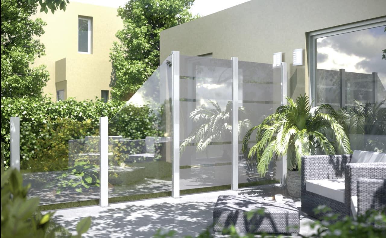 Glas Sichtschutzzaune Holzland Dostler Holz Fur Bau Ausbau